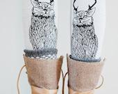 Wild Catalope Leggings || cat leggings, jersey leggings, yoga legging, spandex legging, hand printed legging, cat clothing || by Simka Sol