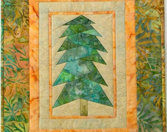 Forest Night Wall Hanging (Fat Quarter Friendly) - Solitary TREE-Winter-Spring-Summer-Fall-Solstice-Christmas-Paper Pieced - PDF Pattern