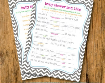 INSTANT UPLOAD Baby Shower Game Mad Libs - Fiesta Baby Shower Game, Baby Shower Mad Lib, Baby Shower Game, Mad Lib Baby Game, Fiesta Game