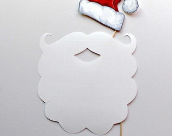 OVERSIZED Santa Beard. Winter Photo Booth Props. Christmas Party Photobooth. Holiday Office Party. Christmas Minis