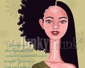 BOGO PRINT SALE -African American Art Natural Hair Art Black Woman Art Afro Print