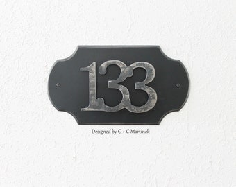 Custom Metal House Number Home Address Plate Personalized House address Iron Address Number