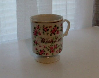 With Love Footed Rose Mug