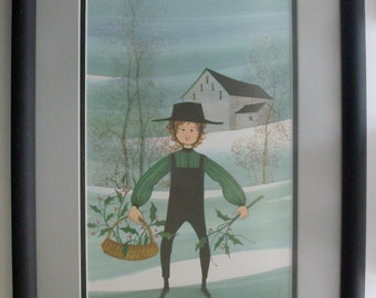 "1988 ""Eric"" P. Buckley Moss Framed Print"