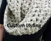 Custom Listing for Seema - Grey Marble Chunky Circle Scarf