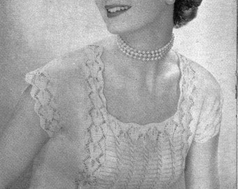 1955 Captivating Blouse vintage knitting pattern 015