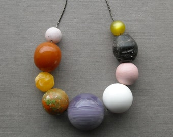 geologist necklace - vintage lucite