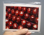Photo greeting cards. Two blank cards and two envelopes. Beautiful candles
