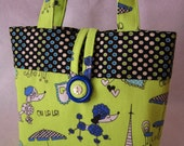 Poodles in Paris Little Girls Tiny Tote/Purse