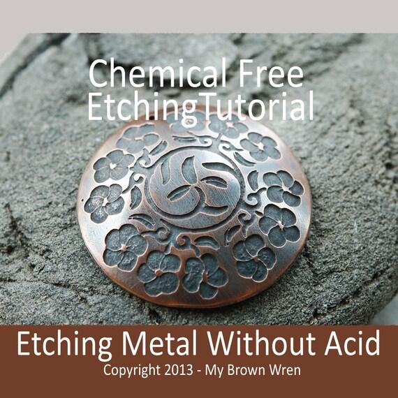Etching Tutorial Acid Free Metal Etching Electro By