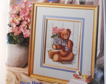 CROSS STITCH SAMPLER magazine, Easter patterns, teddy bear, pin wheel, spring decor