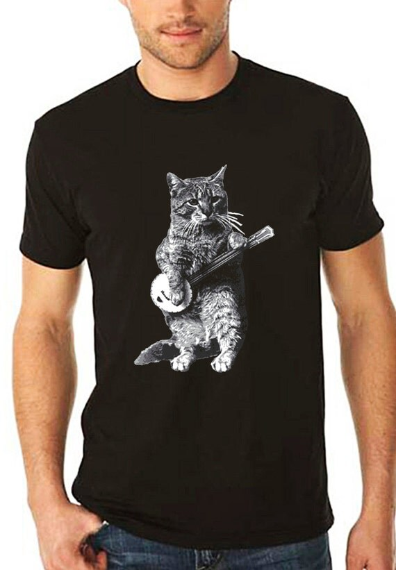 Banjo Shirt Cat Shirt Vintage Design Banjo Cat T Shirt