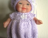 Knitting Pattern Berenguer Baby Doll Bubble Dress Set for the 5 inch Itty Bitty Doll instant digital download