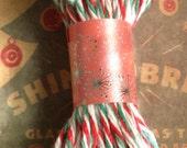 10 Yards Christmas Colors Red/ Green/WhiteThick Cotton Twine - Cord, Ribbon, Gift Wrapping