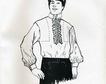 Vintage Pegee of Williamsburg Historical Men and Boy Colonial Shirt Sewing Pattern - One Size Fits All Men