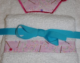 Custom Embroidered, Personalized Towel Set with Sparkly Princess Crown