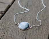 Custom Moon Phase Necklace - Choice of phase Glass Dome full moon pendant Statement Necklace