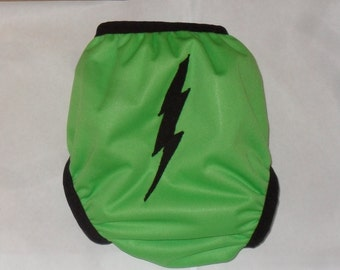 Lightning bolt  PUL diaper cover