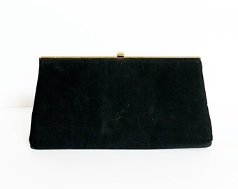 1950s Black Clutch with Chain Handle