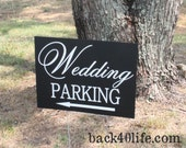 Wedding Info Sign - parking, directions (W-020)