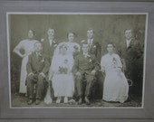 Shabby Bride - Groom - Wedding Party - Flowers - Lrg Antique Cabinet Photo - Fall River, MA