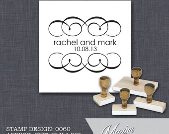 Wood Handle Rubber Stamp - Address Stamp, Gifts for Wedding, Housewarming, Etsy Labels, Return Address Stamp, Christmas Card - Design 0060
