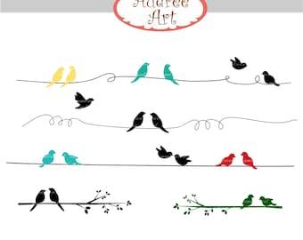 Black bird clipart | Etsy