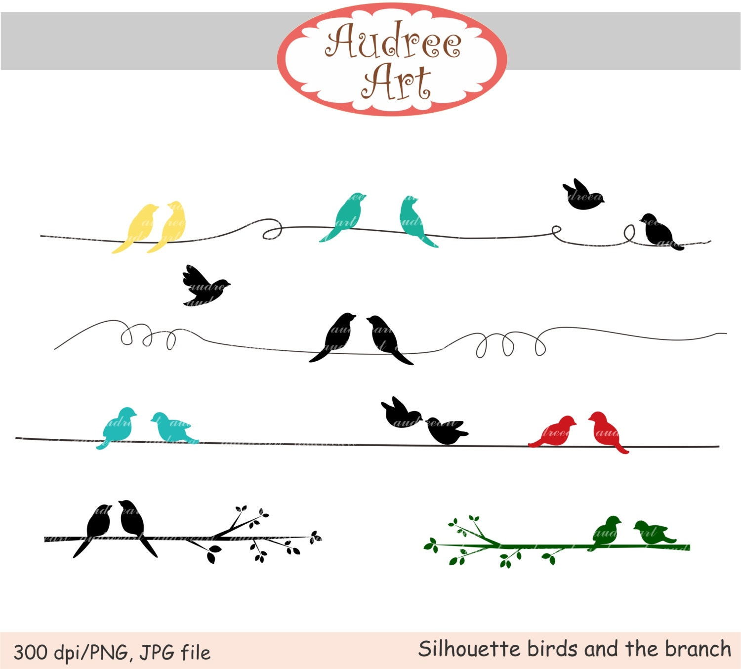 clip art birds silhouette birds and branch png format
