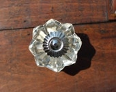 Clear Glass Drawer Knobs - Glass Cabinet Knobs with Silver Hardware (CK41)