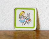 Tiny Vintage Alice in Wonderland Tray