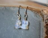 Opal Earrings - October Birthstone - Libra Earrings - Opal Chips - October Birthday - Opal Birthstone