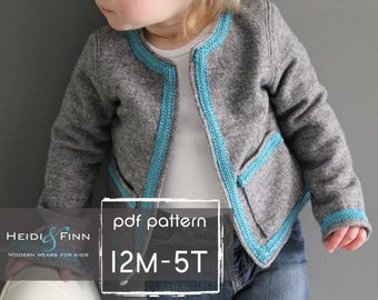 Coco Jacket pattern and tutorial 12M-5T holiday jacket  coat bolero PDF