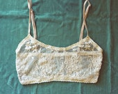 Ivory Nude Lace Cami Bralette