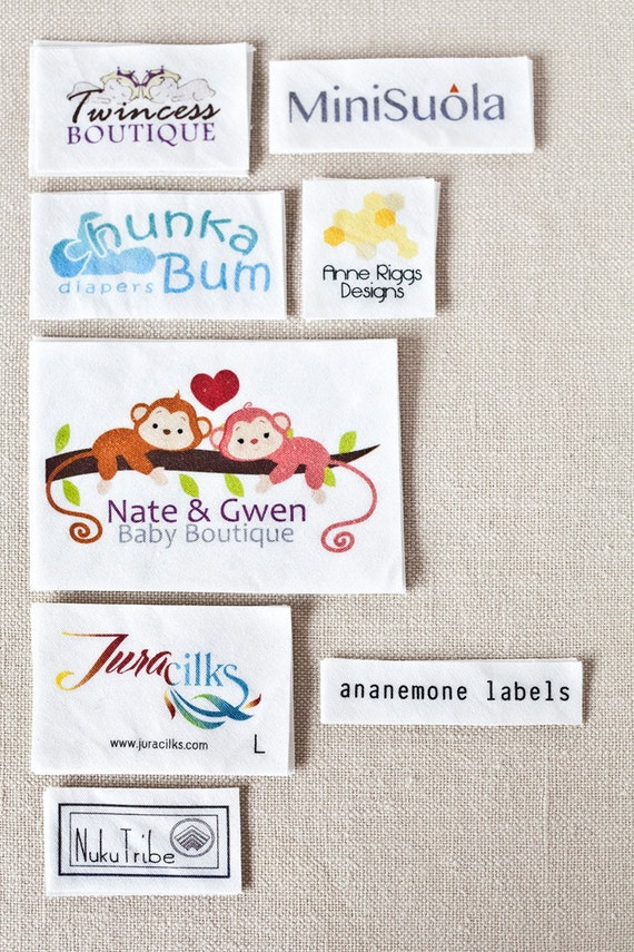 Custom clothing labels personalized sewing labels by ananemone for How to sew labels on clothes