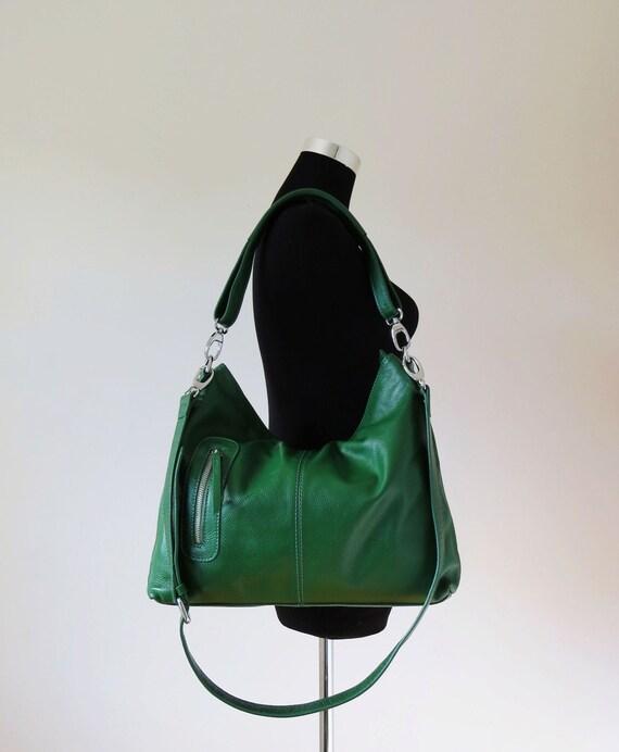 Leather hobo, leather crossbody bag