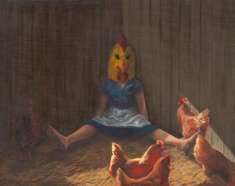 "Blending In, 12""x12"" Giclee print of original painting"