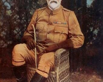 1900, Brigadier-General John George Dartnell, Large Antique Print, Army 116, Military Moustache, Uniform Commander, Frameable Art