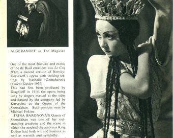 1950, Le Coq D'Or, Rimsky-Korsakoff, Opera, Black & White Print Pages 55/56 Photograph by Baron (Sterling Henry Nahum)