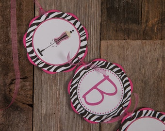 BACHELORETTE Party Banner in Hot Pink and Zebra - Bachelorette Party Decorations - Lingerie Shower Decorations - Bridal Shower Banner