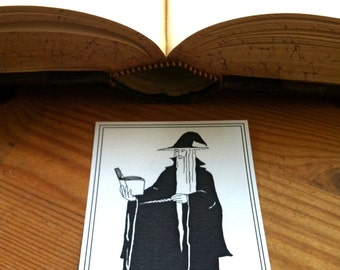 Bookplates Black Wizard 25 Personalized Ex Libris Booklabels