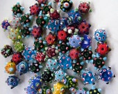lampworked glass beads rounds and rondelles - 57
