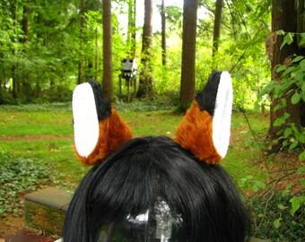 Brown Fox Ears Faux Fur Fox Ear Hair Clips by Ningen Headwear