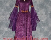 Bella, a Medieval, Pre-Raphaelite, Celtic, Renaissance, Pagan Gown suitable for hand fasting ceremonies.