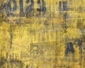 B-3-5, original encaustic with image transfer on wood panel