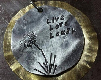 This Signature Pendant says it all!  Live... Love... Laugh...