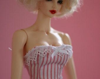 Candy stripe dream - corset for Chicline BJD