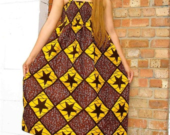 African Print dress Medium and Large