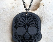 Sugar Skully Necklace - Black