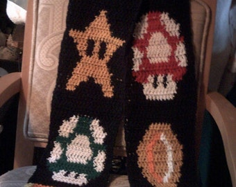 Super-size Mario-themed scarf - made to order slot