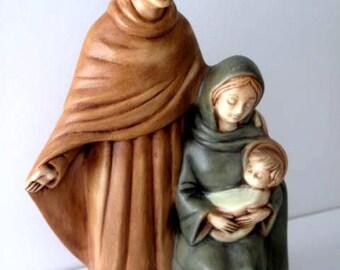 Vintage Ceramic Holy Family